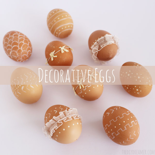 Decorative Eggs with paint and ribbon – 12 Easter Crafts