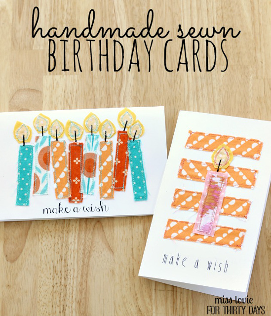 Gorgeous Handmade Sewn Birthday Cards