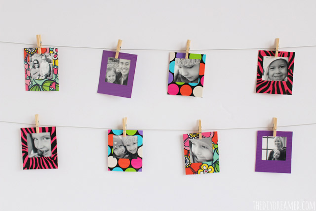 Duck Tape® Mini Instant Photo Frames Tutorial - #TheDuckAtWalmart