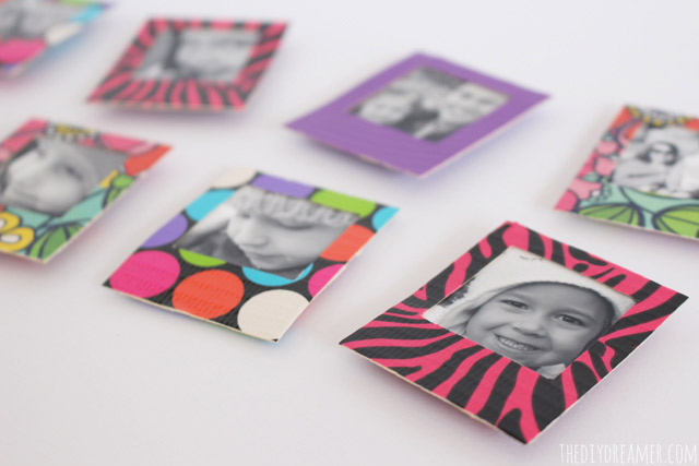 duck tape mini instant photo frame magnets tutorial theduckatwalmart - Mini Frame