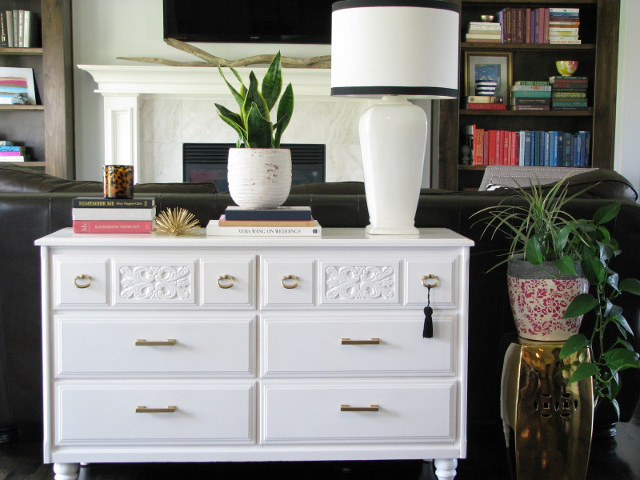 White Dresser - Learn how to paint a dresser
