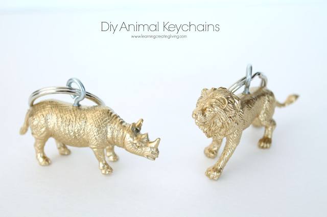 DIY Gold Animal Keychains