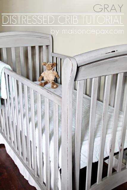Distressed Crib Tutorial
