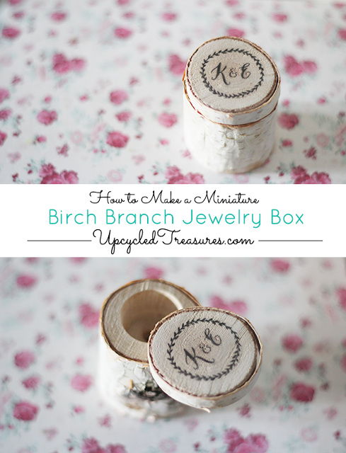 How to make a birch branch jewelry box