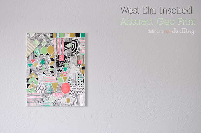 West Elmin inspired Abstract Geo Print Art