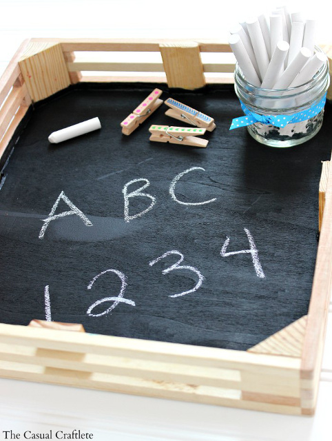 Easy DIY Kids Chalkboard Tray - Perfect for traveling!