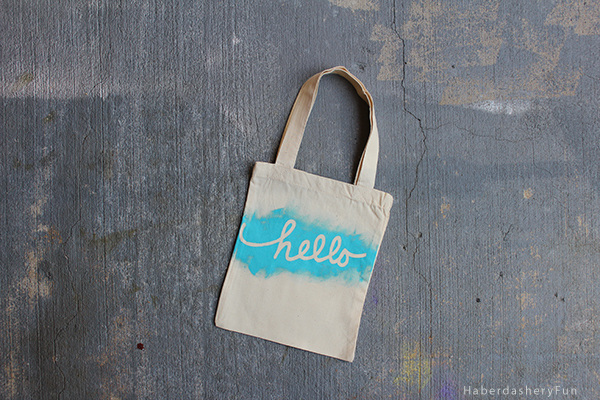 Hello printed tote bag