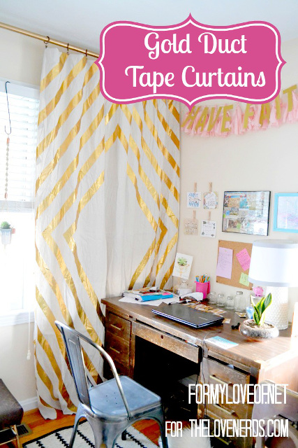 Duct Tape Curtains - Transform boring curtains into stunning curtains with duct tape
