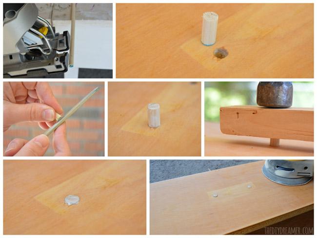 How to make wood plugs