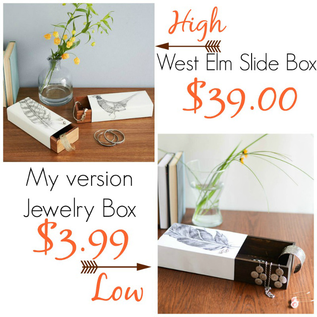 Jewelry Slide Box - West Elm Knock-off