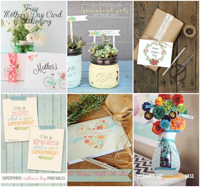 Last Minute Ideas – 20 Beautiful Mother's Day Printables