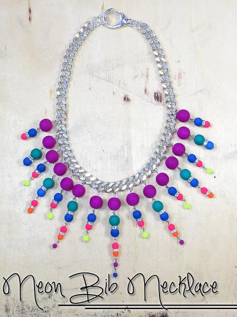 Neon Bib Necklace - Tutorial