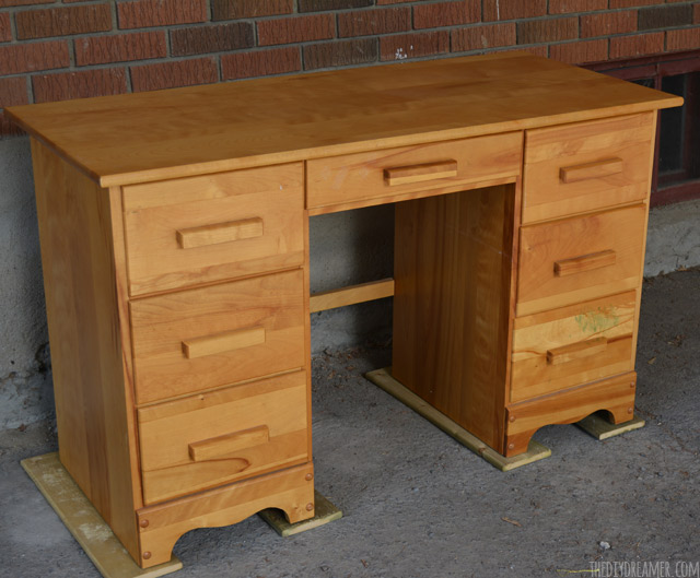 Plain wood desk