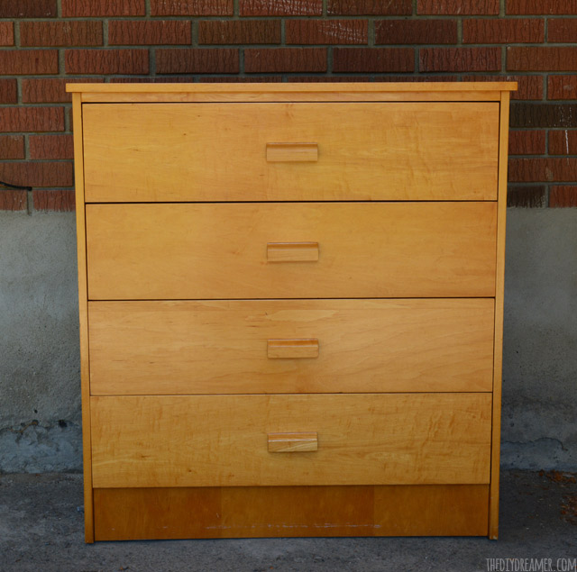 Plain wood dresser