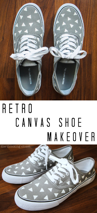 Retro Canvas Shoe Makeover