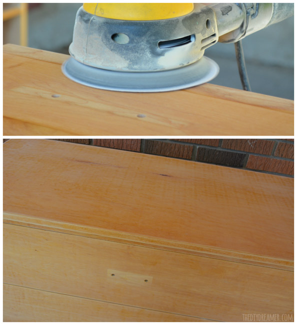 How to sand a wood desk
