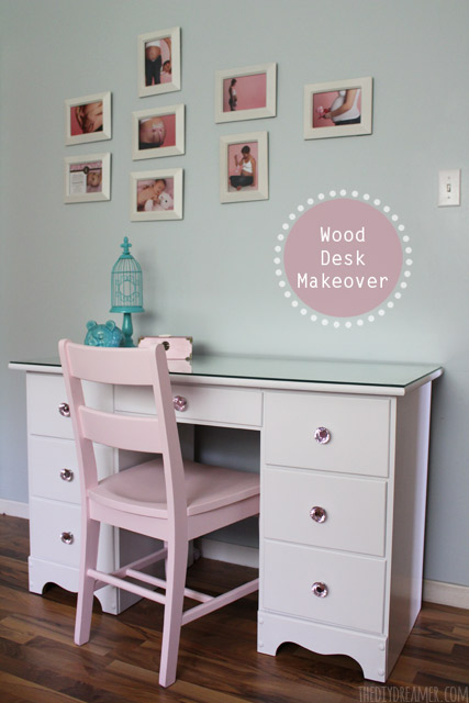 Wood Desk Makeover