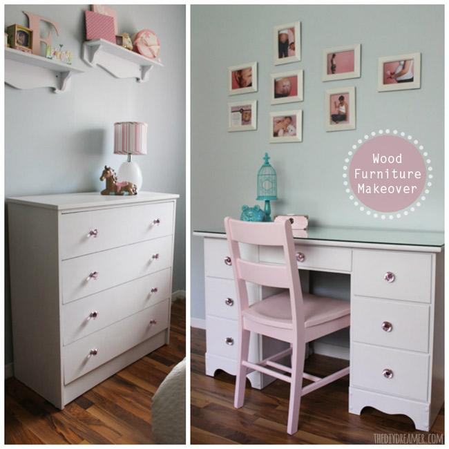Wood Furniture Makeover - Desk and Dresser Transformation