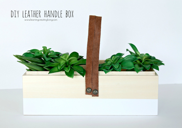 DIY Leather Handle Box