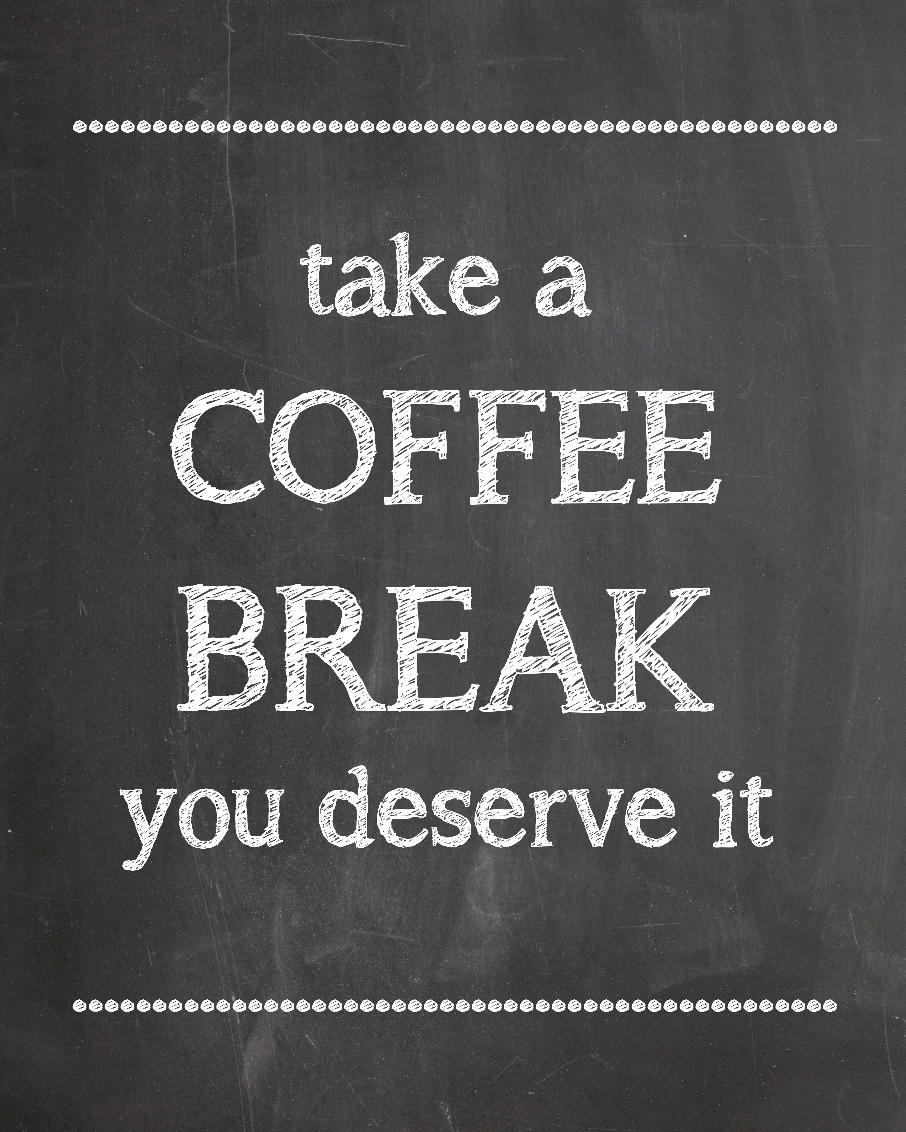 Coffee Break Time - Printable - #KraftMeACoffee