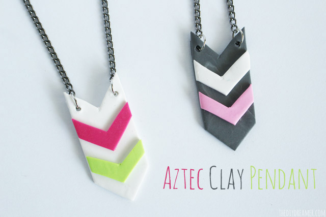 Aztec clay pendant easy clay jewelry tutorial aztec clay pendant tutorial using sculpey souffl clay aloadofball Image collections