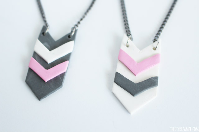 Aztec Style Pendants - Pendants made with clay!