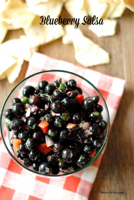 Perfect Summer Entree - Blueberry Salsa