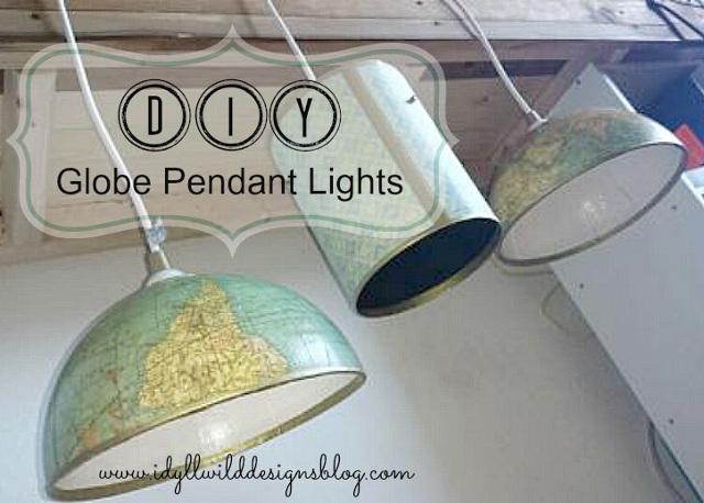 20 diy lighting ideas light fixtures lamps and more diy globe pendant lights aloadofball Choice Image