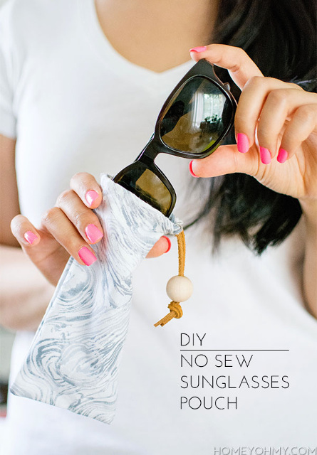 No Sew Sunglasses Pouch