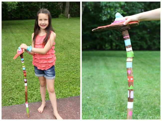 DIY Walking Stick - Perfect Kids Craft - Camping Craft