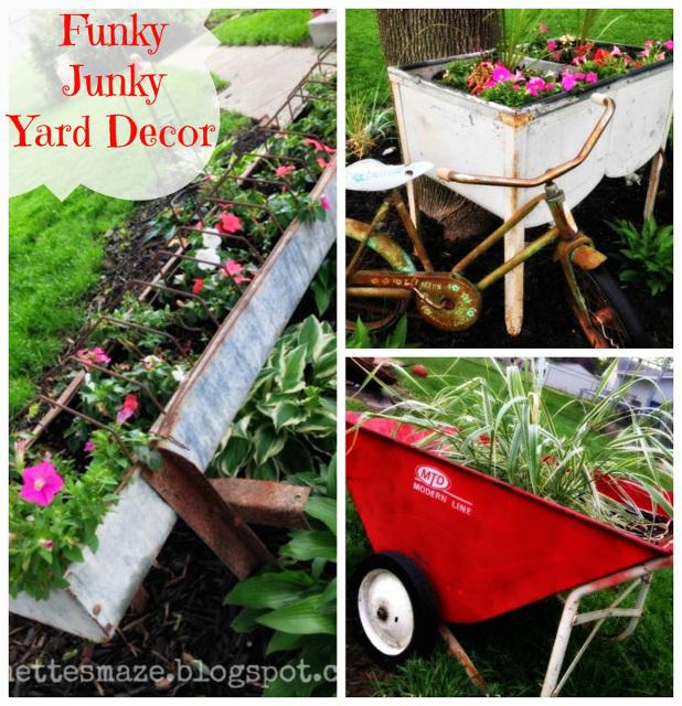 Funky Junky Yard Decor!