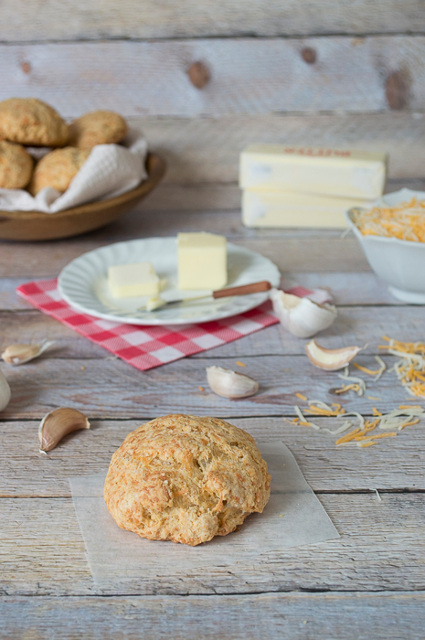 Garlic Butter and Cheddar Scones Recipe