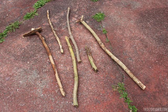 Turn branches into beautiful walking sticks