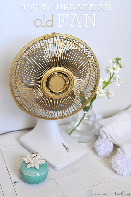Transform and old fan into a gorgeous stylish fan!  How to update an old fan!