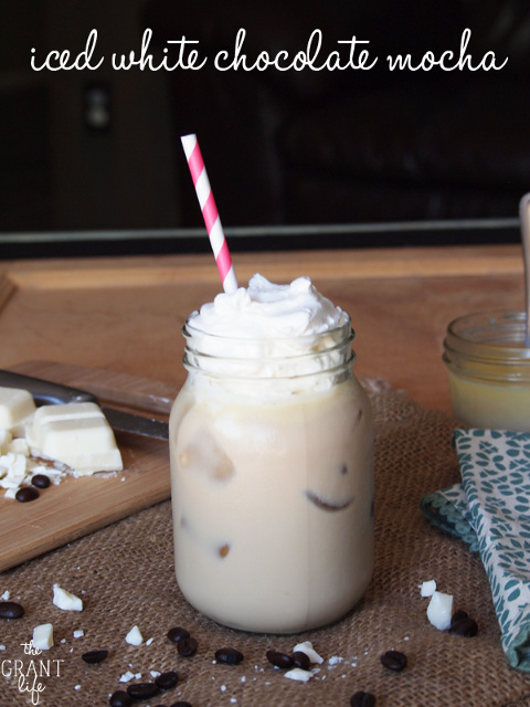Iced White Chocolate Mocha - Perfect Summer Drink!