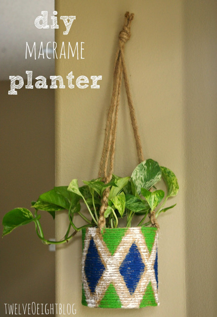 Easy DIY Macrame Hanging Planter