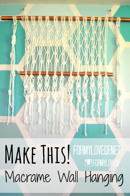 How to make a Macrame wall hanging - Tutorial