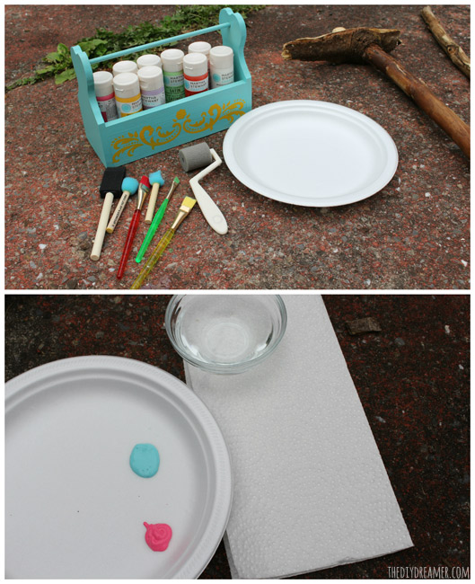 What you will need to paint the branches