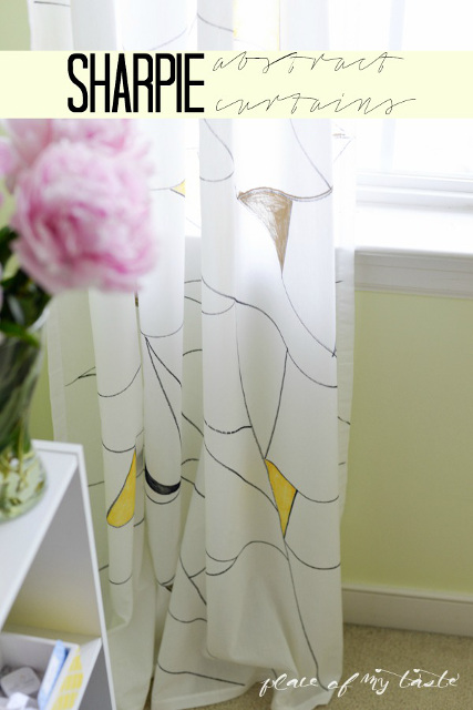 Abstract Curtains with Sharpie Paint Markers