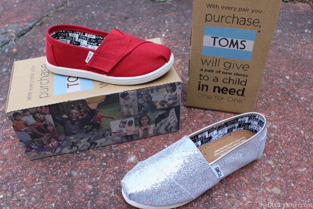 With every pair you purchase, TOMS will give a pair of new shoes to a child in need. One for One