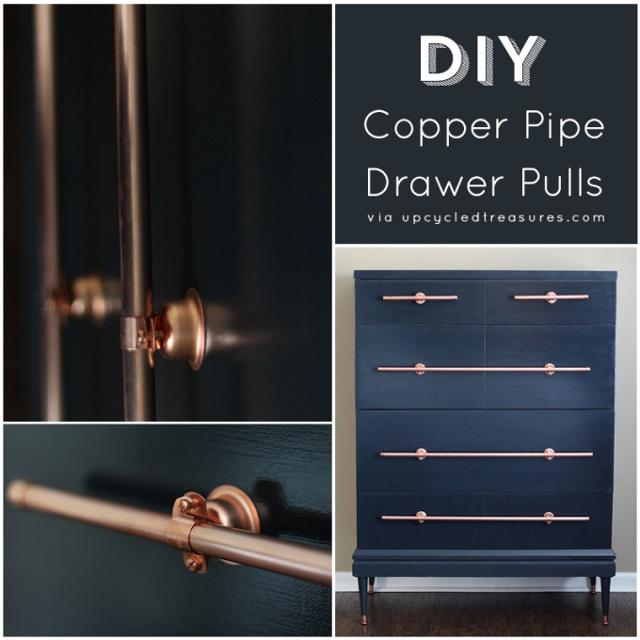 DIY Copper Pipe Drawer Pulls