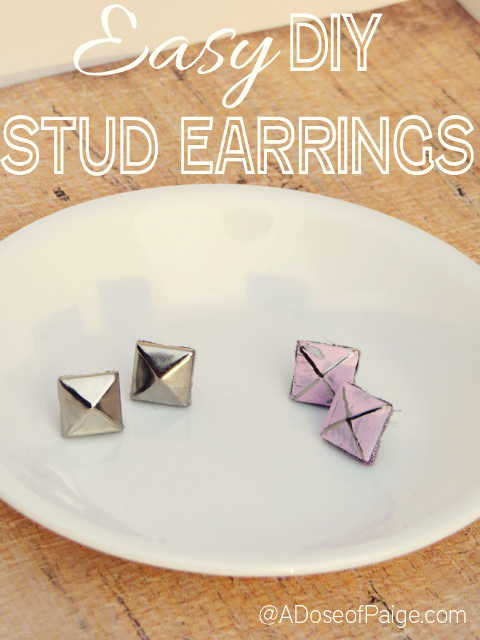 Easy to make DIY Stud Earrings!