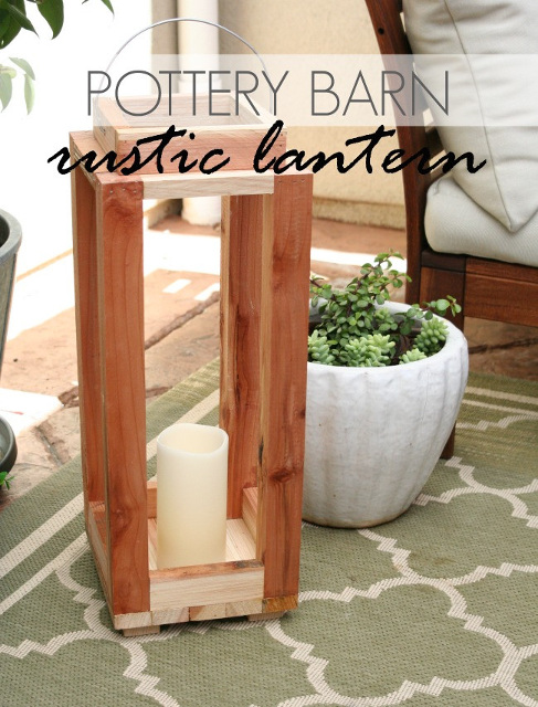 DIY Pottery Barn Rustic Lantern - Learn how to make one for you!