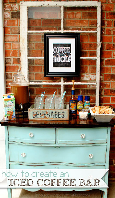 Iced Coffee Bar - Learn how to set up an iced coffee bar!