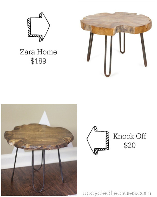 Small Rustic Stool with DIY Hairpin Style Legs