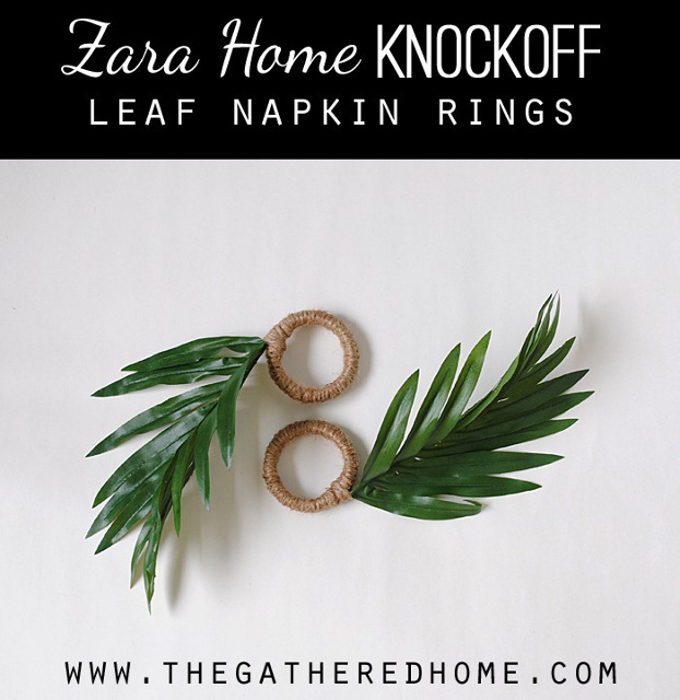 Zara Home Knockoff Leaf Napkin Rings