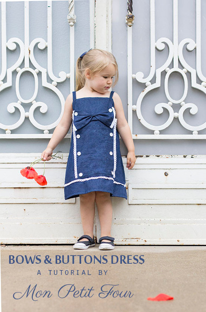 Bows and Buttons Dress - Sewing Tutorial
