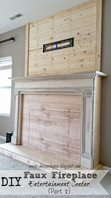 Diy Faux Fireplace For Under 600 The Big Reveal Blesser House