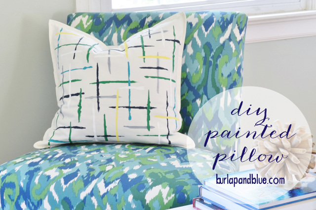 DIY Painted Pillow - Brushstrokes Painted Pillow Tutorial