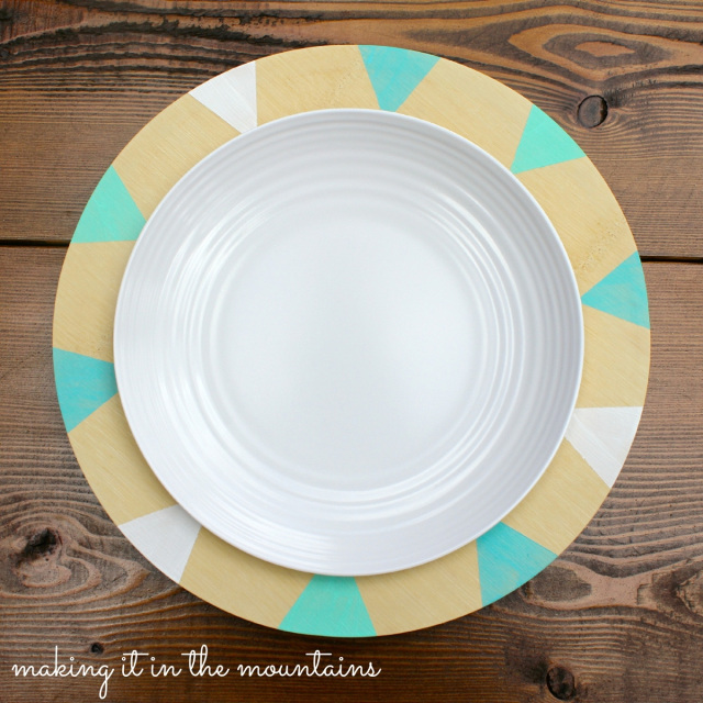 DIY Painted Wooden Plates